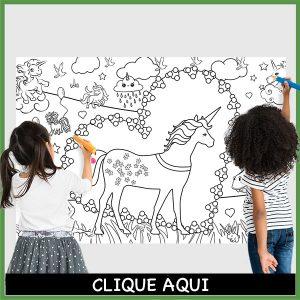 desenho gigante para colorir unicornio