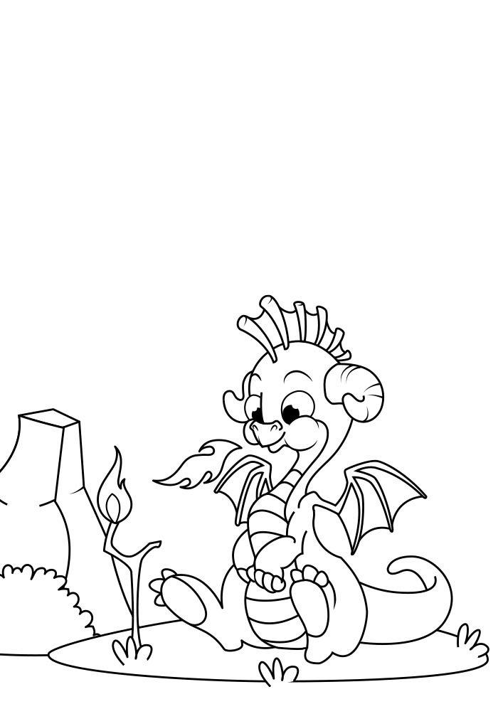 dragao para colorir 10