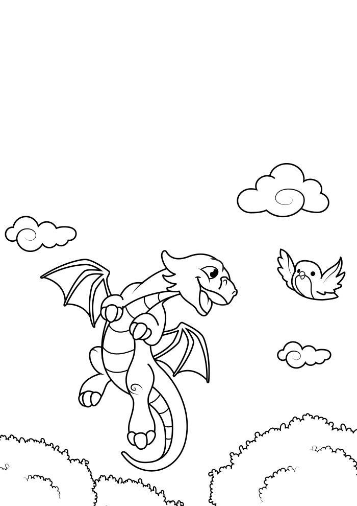 dragao para colorir 14