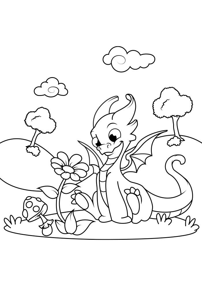 dragao para colorir 16