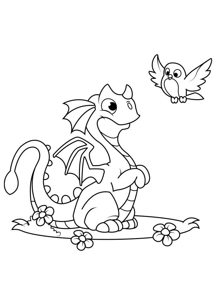 dragao para colorir 2