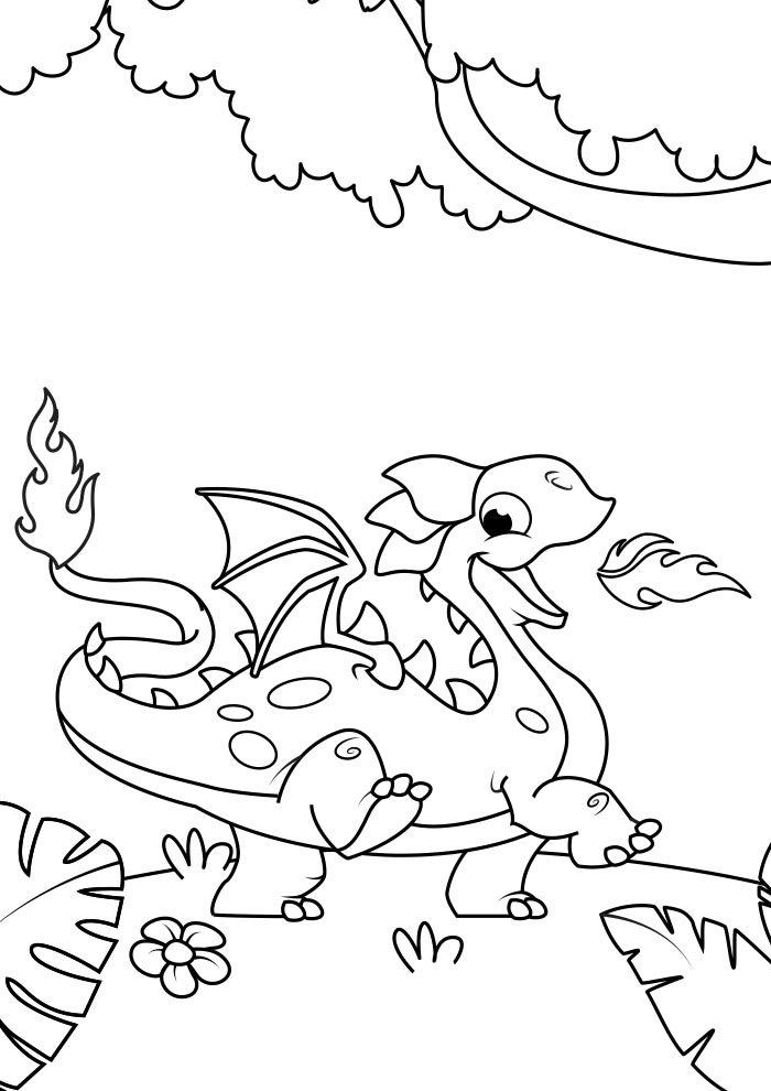 dragao para colorir 3