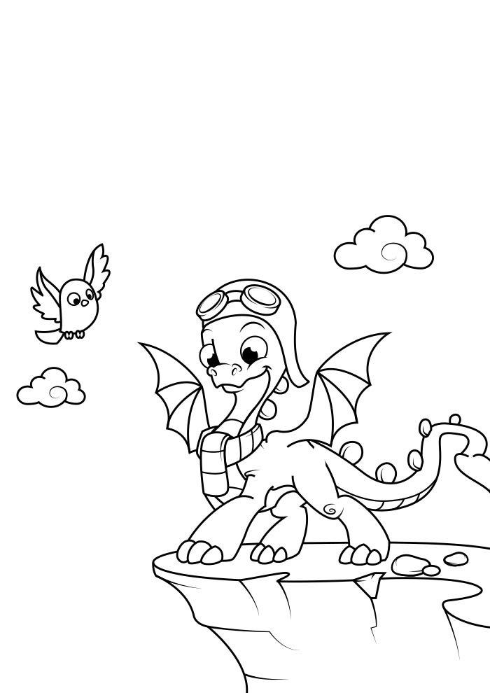 dragao para colorir 4