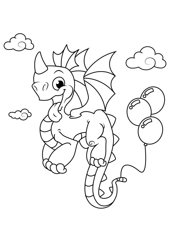 dragao para colorir 7