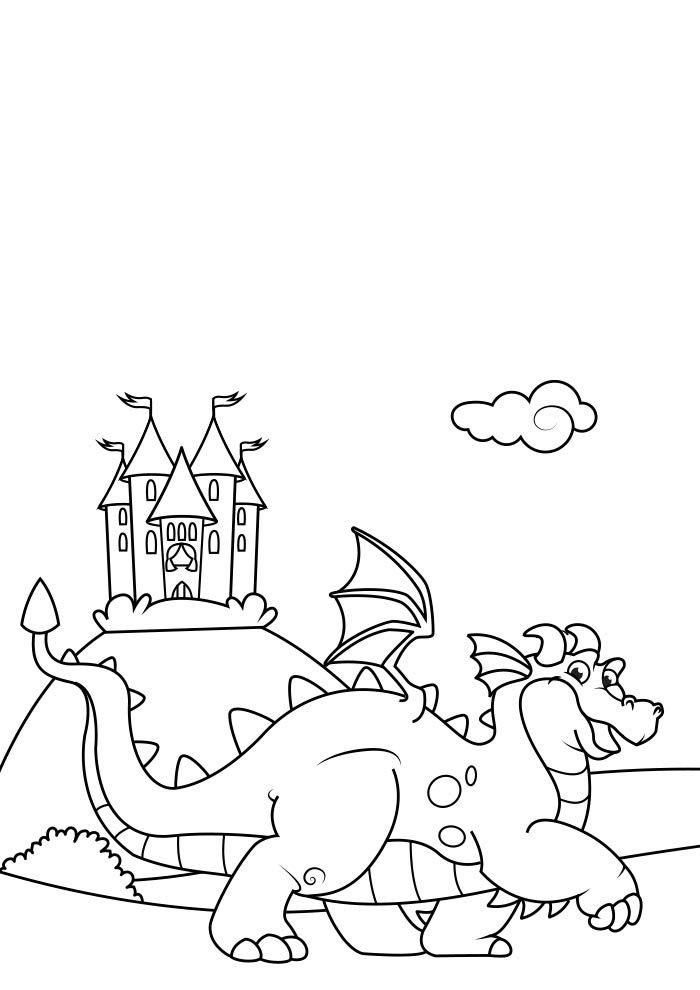 dragao para colorir 9