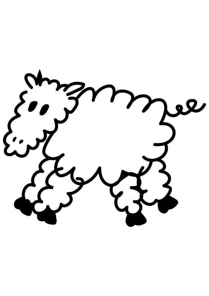 ovelha para colorir 11