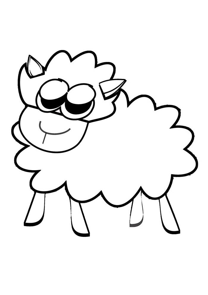 ovelha para colorir 13