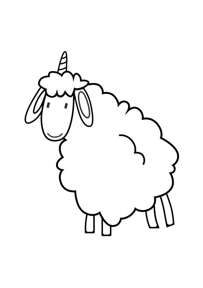 ovelha para colorir 14