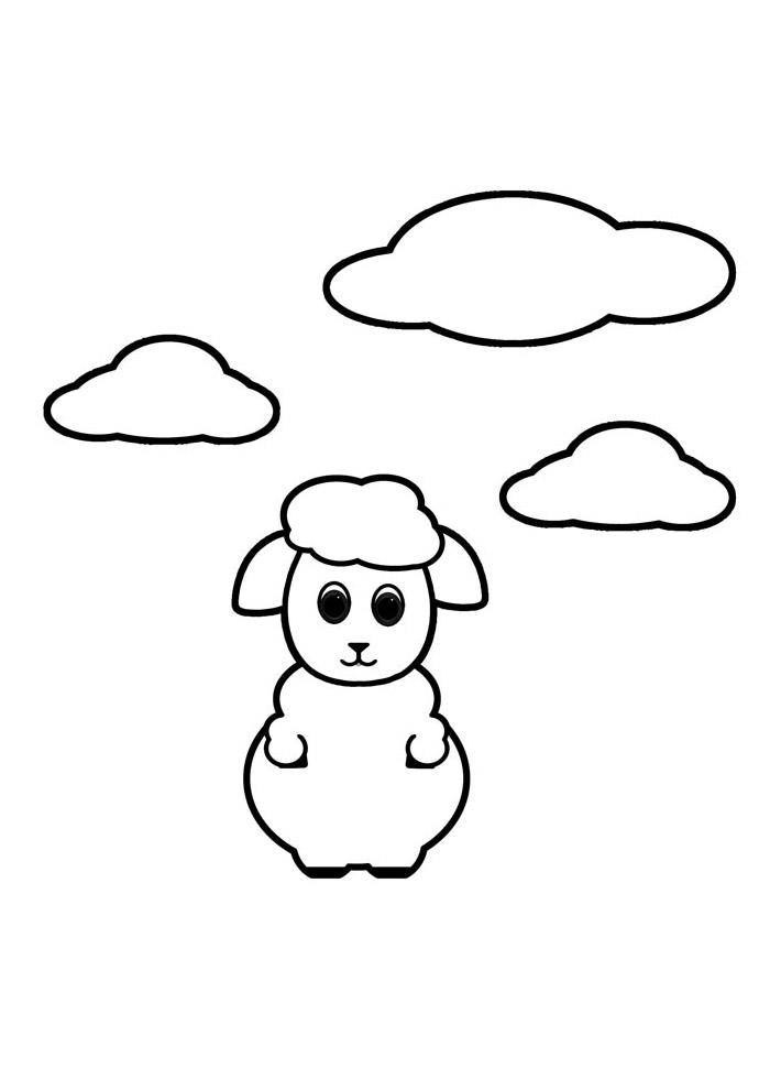 ovelha para colorir 2