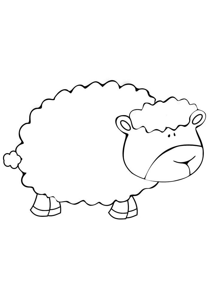 ovelha para colorir 9