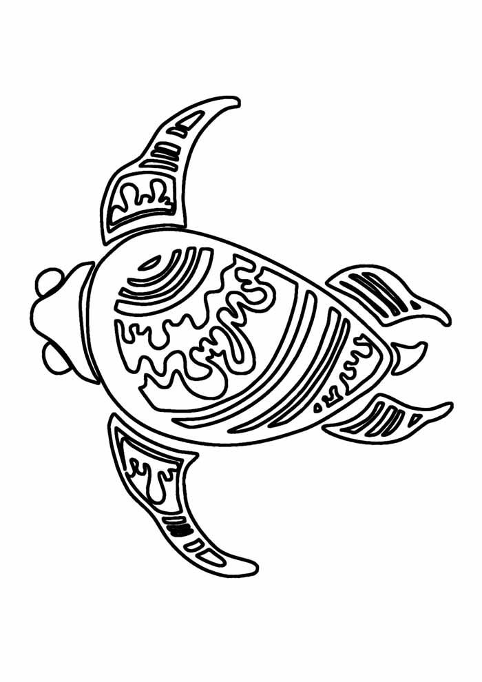 tartaruga para colorir 8