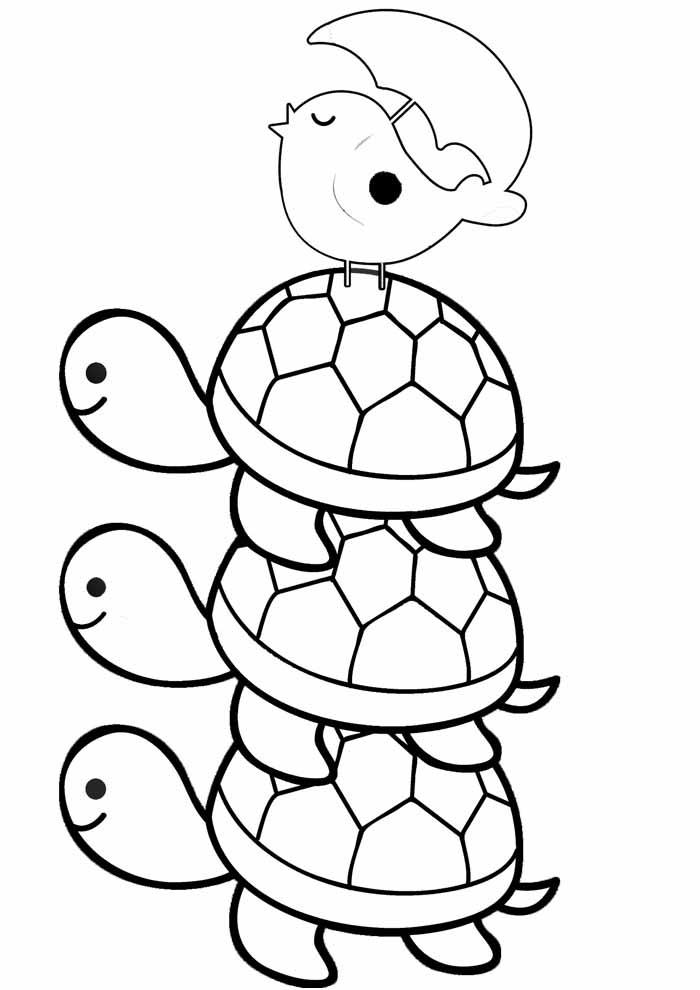 tartaruga para colorir 9