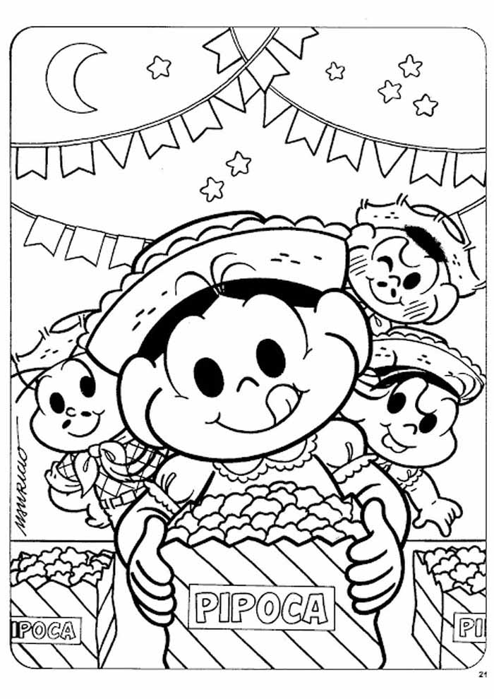 turma da monica para colorir 20