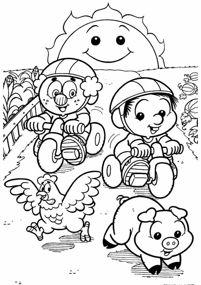 turma da monica para colorir 7