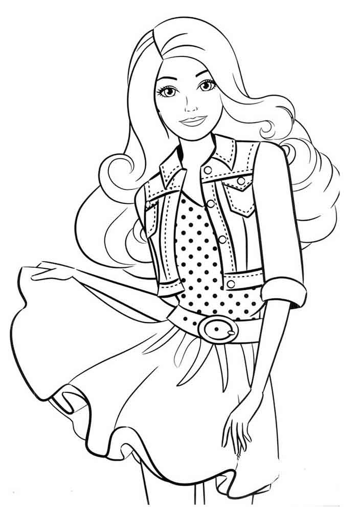 barbie para colorir 10