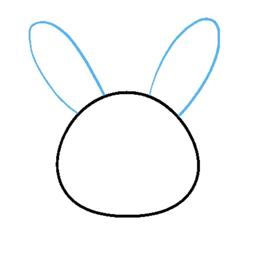 como desenhar um coelho passo 2