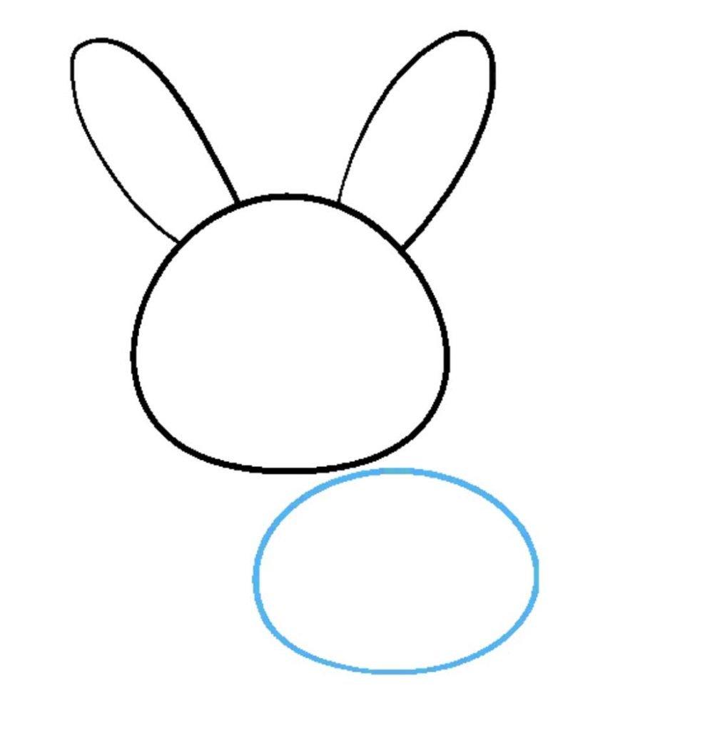 como desenhar um coelho passo 3