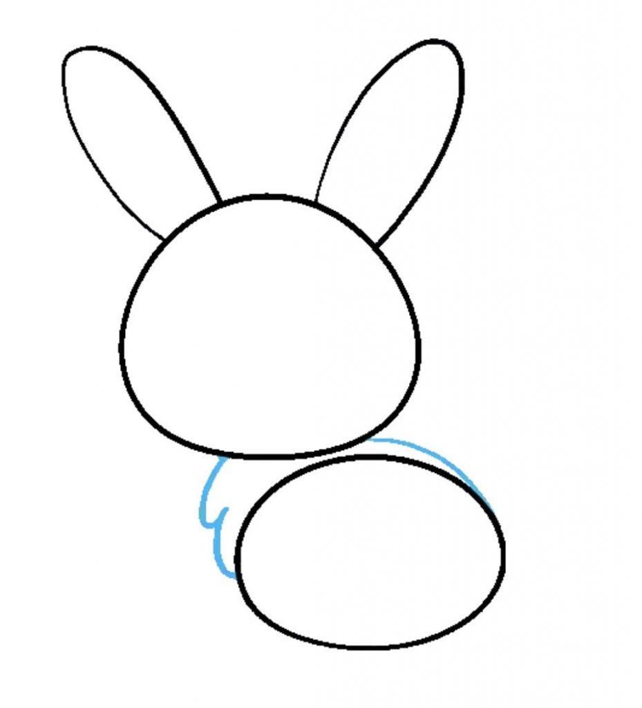 como desenhar um coelho passo 4