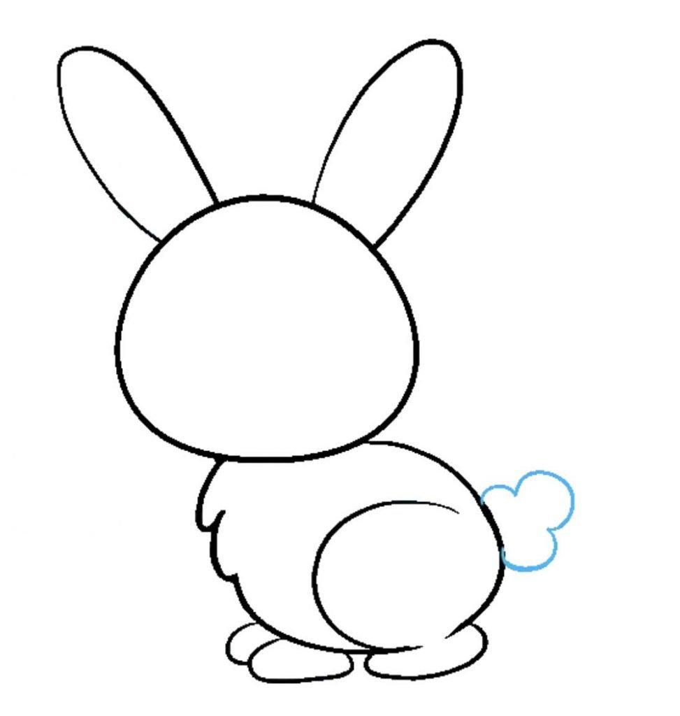 como desenhar um coelho passo 8