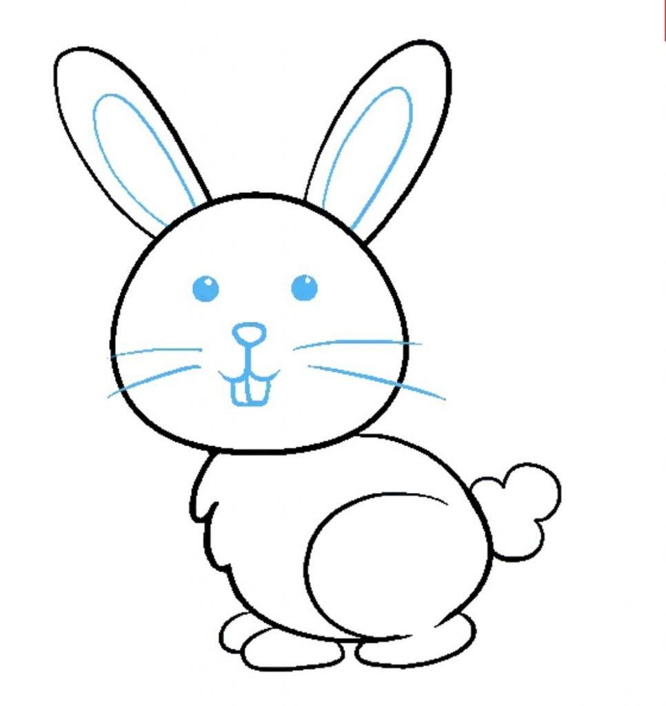 como desenhar um coelho passo 9