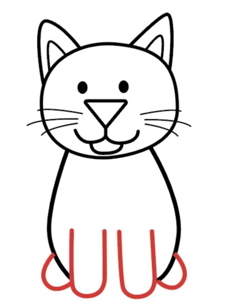 como desenhar um gato passo 5