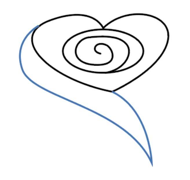 como desenhar uma rosa passo 4