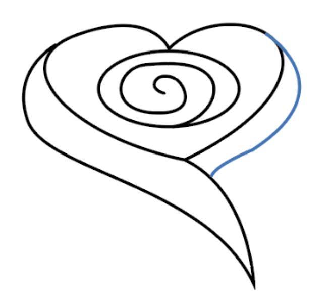 como desenhar uma rosa passo 5