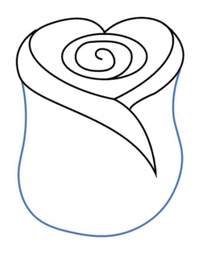 como desenhar uma rosa passo 6