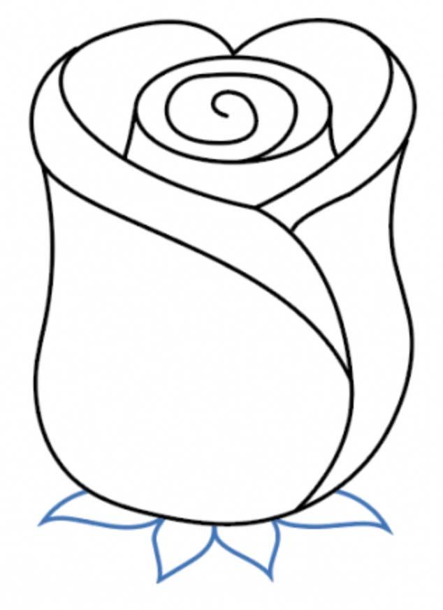 como desenhar uma rosa passo 8