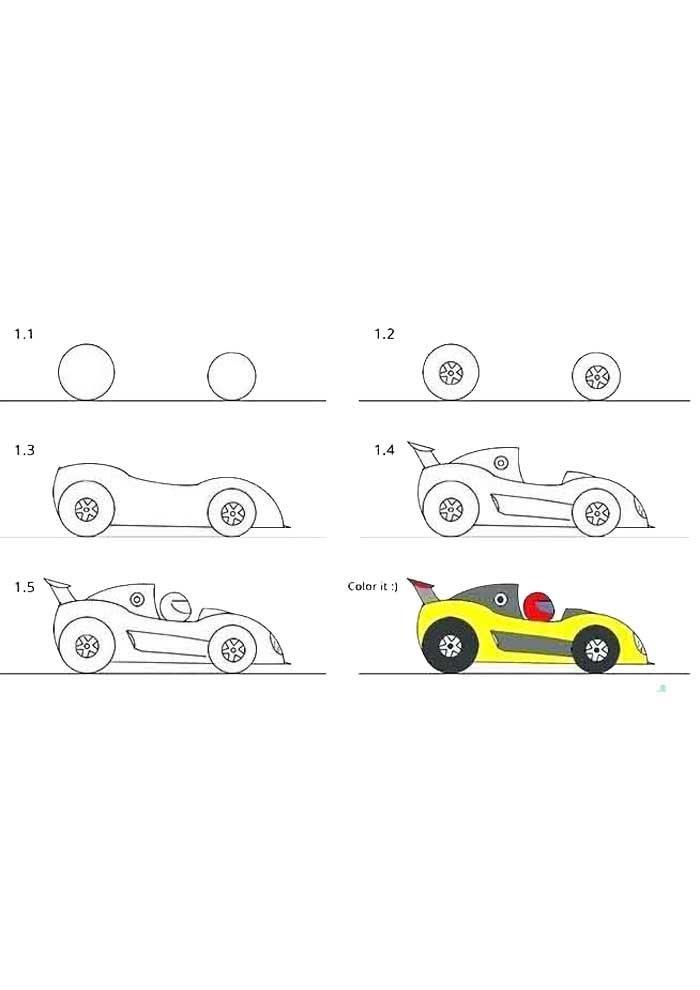 desenho para desenhar carro de corrida