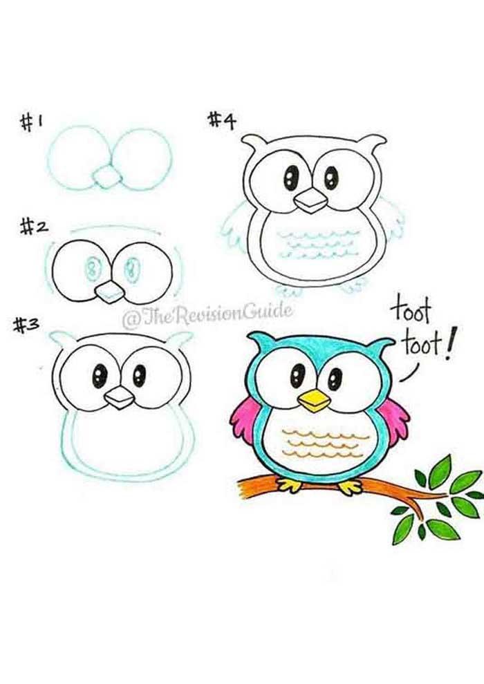 desenho para desenhar coruja