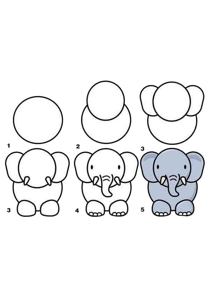 desenho para desenhar elefante
