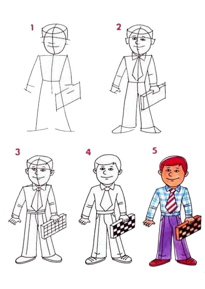 desenho para desenhar homem
