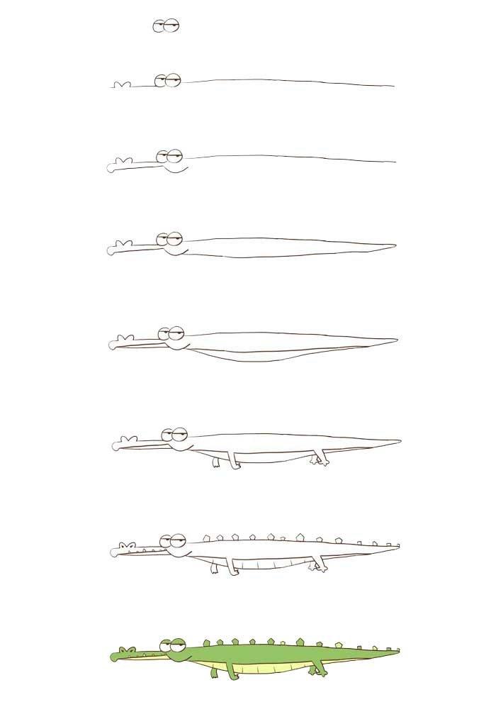 desenho para desenhar jacare
