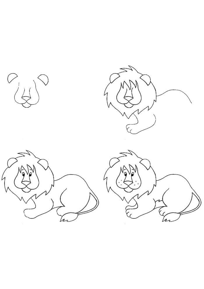 desenho para desenhar leao