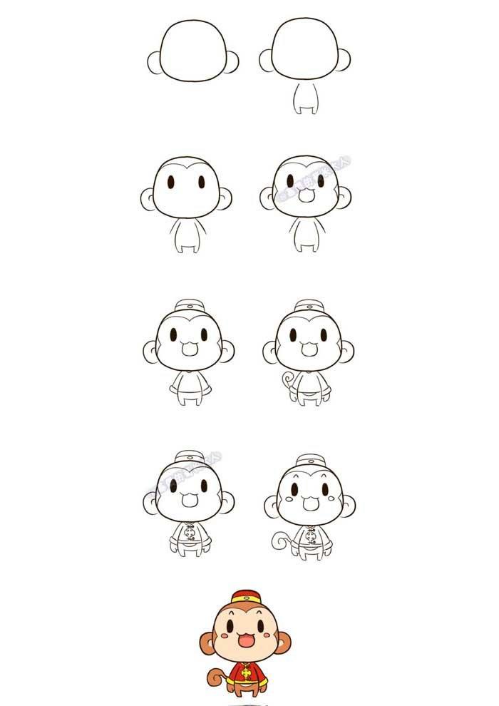 desenho para desenhar macaco