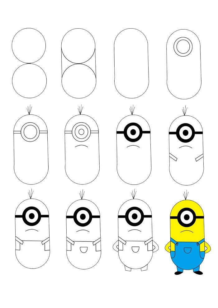 desenho para desenhar minions