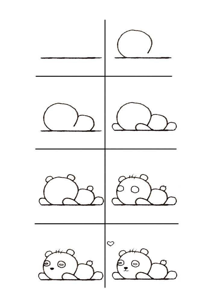 desenho para desenhar panda