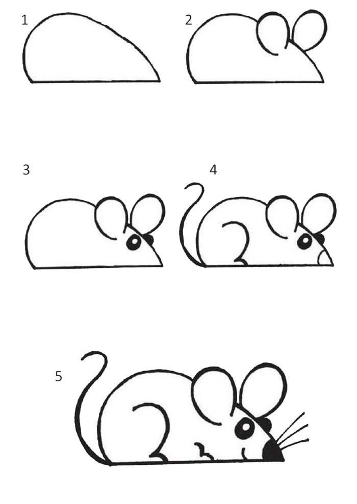 desenho para desenhar rato
