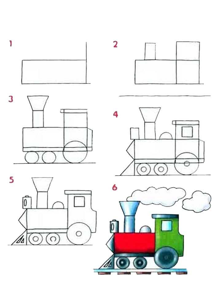 desenho para desenhar trem