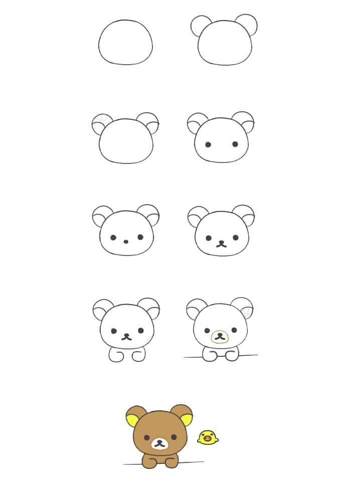 desenho para desenhar urso