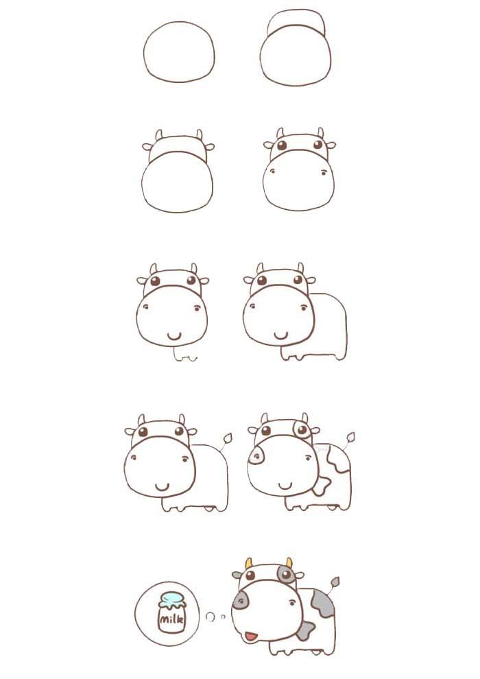 desenho para desenhar vaca