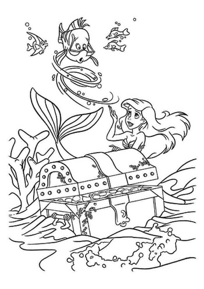 desenho disney para colorir ariel 13