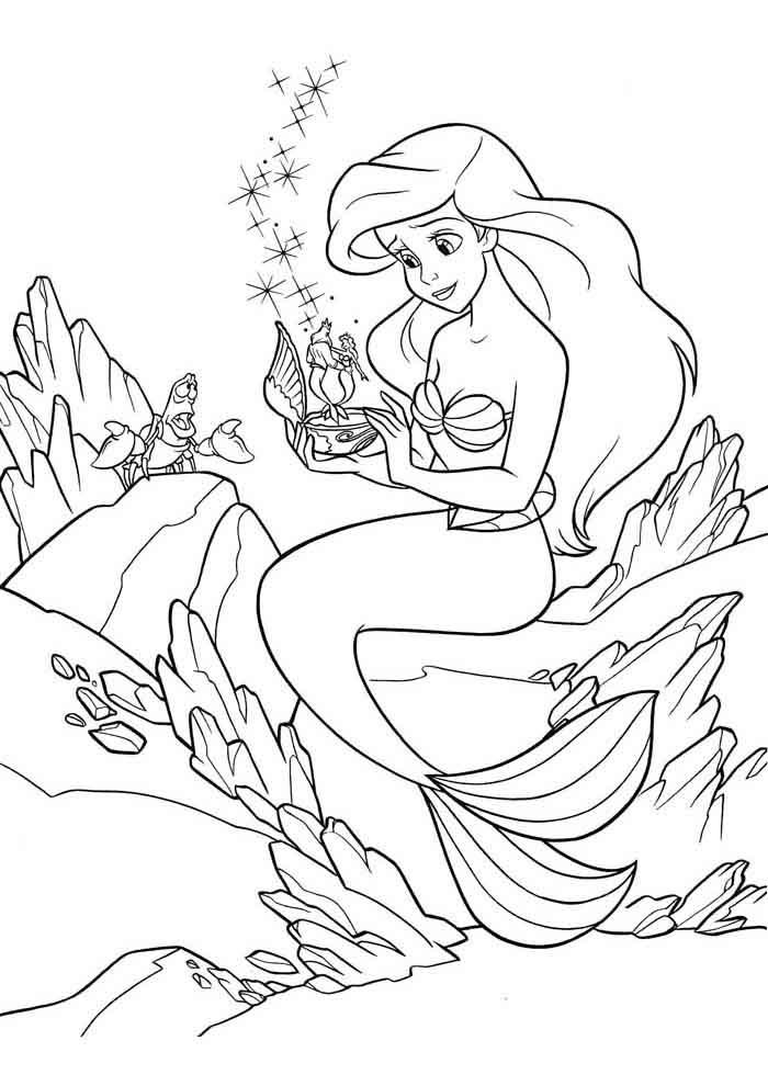 desenho disney para colorir ariel 2