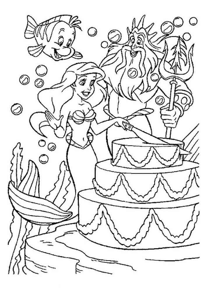 desenho disney para colorir ariel 22