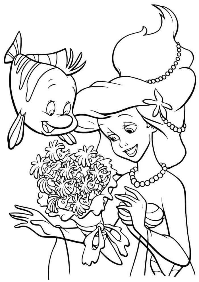 desenho disney para colorir ariel 26