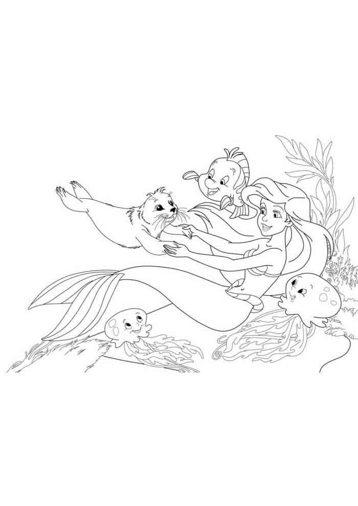 desenho disney para colorir ariel 3