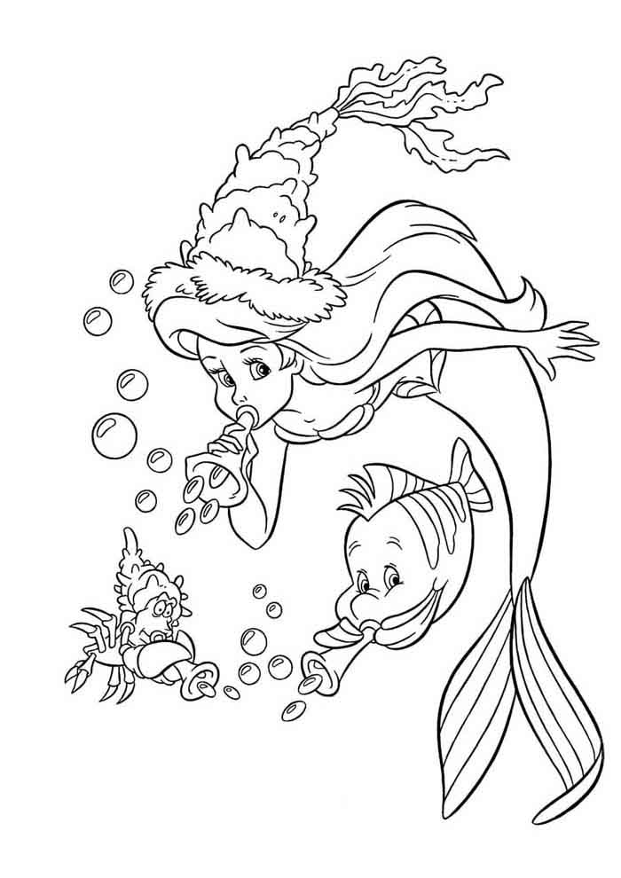 desenho disney para colorir ariel 37
