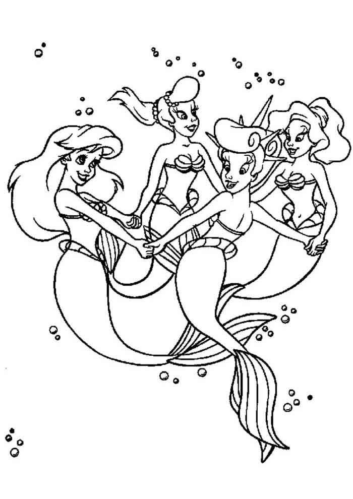 desenho disney para colorir ariel 44