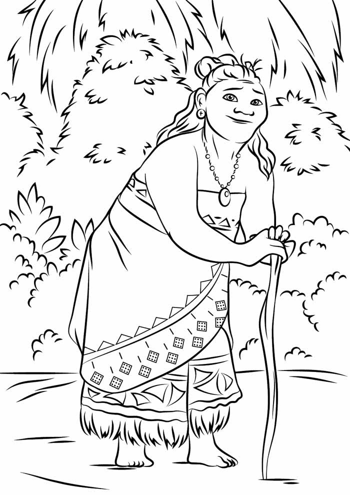 desenho disney para colorir moana 10
